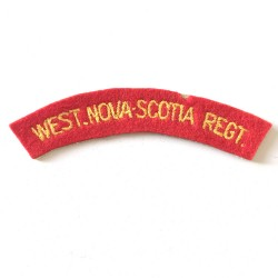 West Nova Scotia Regiment...