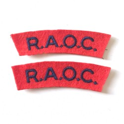 R.A.O.C. (pair) shoulder...