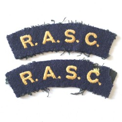 R.A.S.C. Shoulder Titles Paire