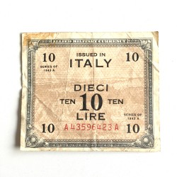 10 Lira 1943-A Italy Allied...