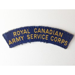 RCASC printed shoulder title